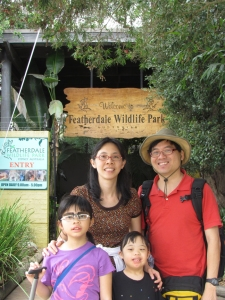 Outside Featherdale Wildlife Park